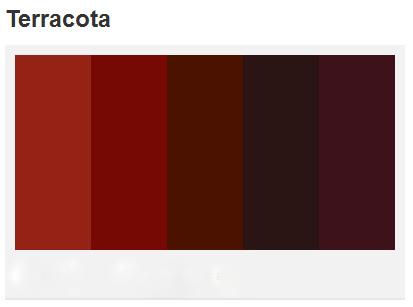 Terra Cotta Rose Paint Color