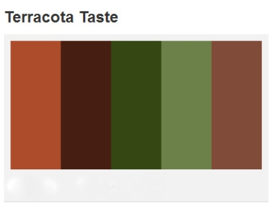 Terracotta Rose complementary colors