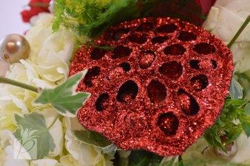 Red Glitter Lotus Pod
