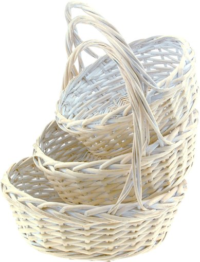 White Basket Set